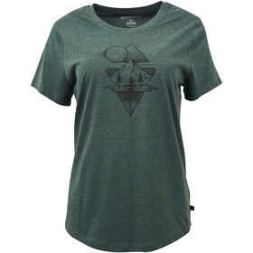 United By Blue Mountain Mist SS Graphic Tee Dame Evergreen